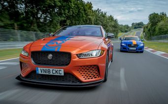 Утринска Гимнастика: Jaguar XE SV Project 8 е вашето ново Nurburgring Race-Taxi за 199 евра!
